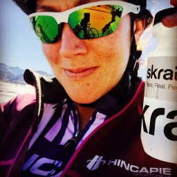 Always have my faithful riding companions, Skratch Labs mix and Hincapie Sports riding apparel