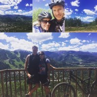 Ryan and I biking outside Aspen, CO