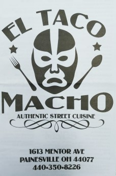 Taco Macho Menu