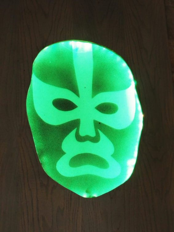 Lighted Lucha Libre mask