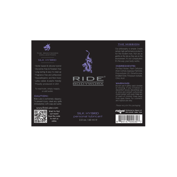 Ride BodyWorx - Silk Hybrid 2oz