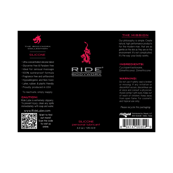 Ride BodyWorx Silicone - 4.2oz Label Graphic