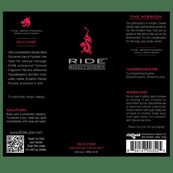 Ride BodyWorx Silicone 8.5oz - Label Graphic