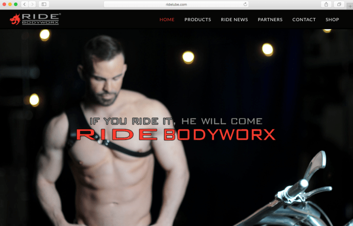ride bodyworx relaunches website for the modern man