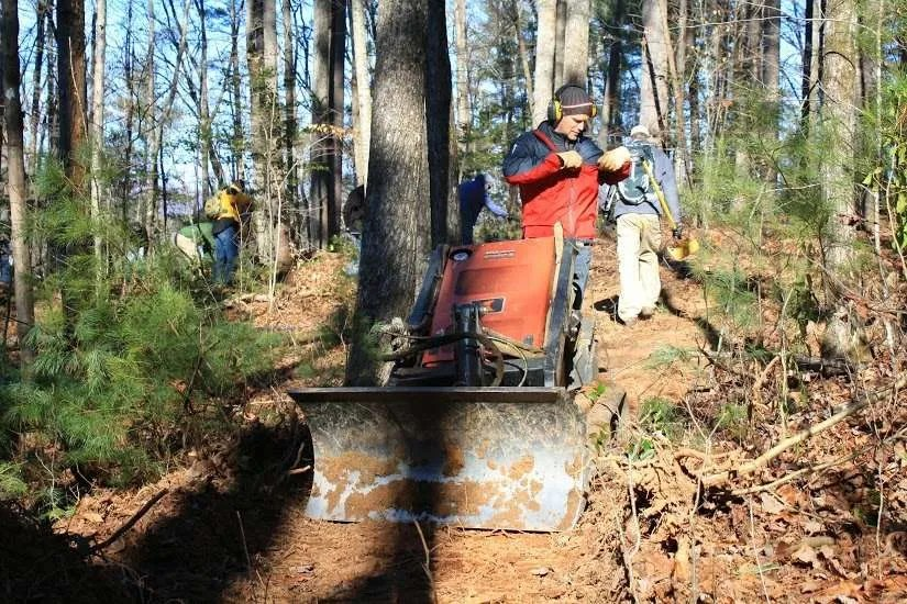 Grandfather District Trail Rehab Underway