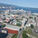 Quebec City as Seen from the Top of the Hilton