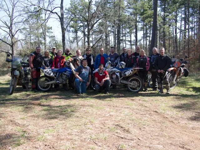 Our Friday ride crew, including two local boys who showed us lots of double track trails and water crossings.