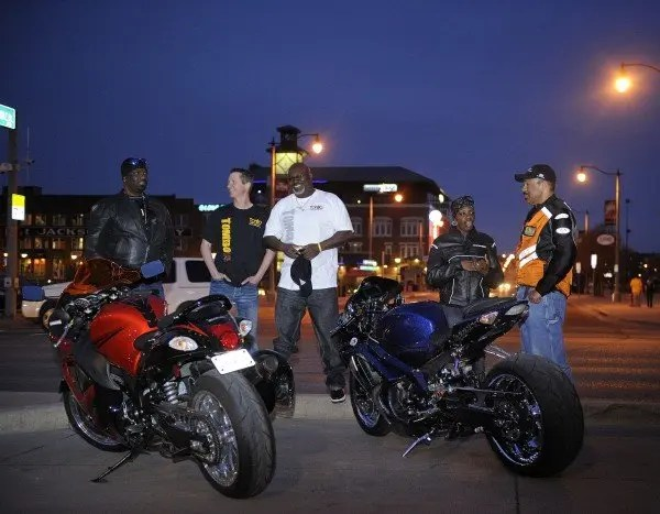 Some of the Tombo Racing team at OKC Bricktown