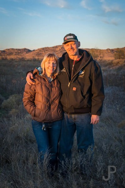 Chris and Claire Johnson are wonderful hosts during their intro to observed trials school west of Lawton.
