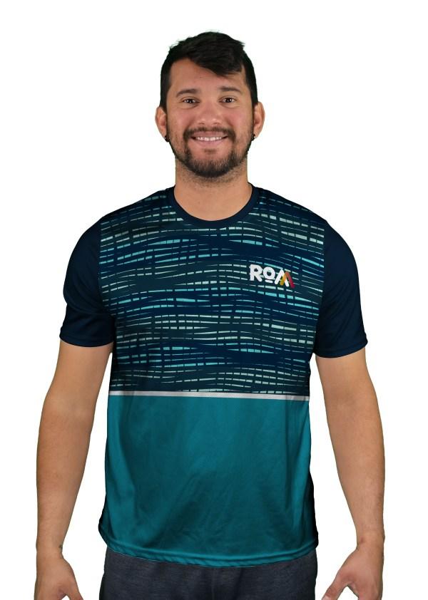 short sleeve binary blue mens mountain bike jersey