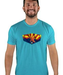 mens mtb copper state bondi blue t-shirt