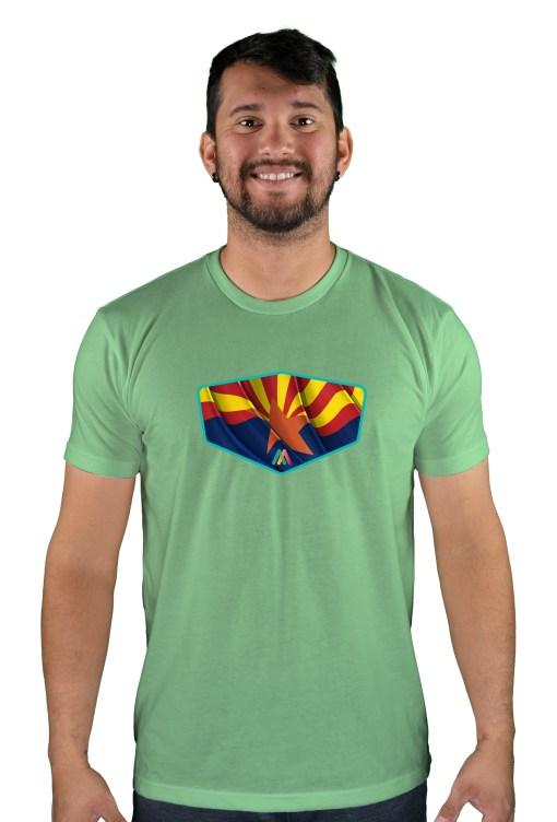 mens mtb copper state green apple t-shirt