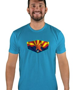 mens mtb copper state turquoise t-shirt