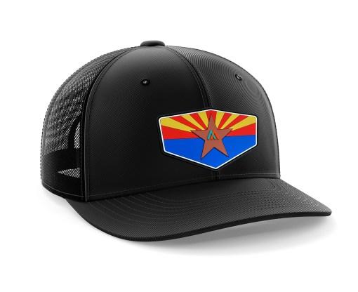 mens trucker hat black copperstate