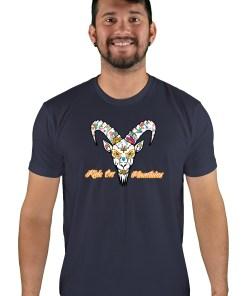 mens mtb el muerto midnight navy t-shirt