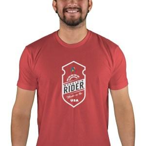 mens mtb mountain rider cardinal t-shirt