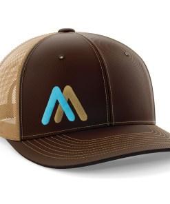 ROM brown/tan trucker hat