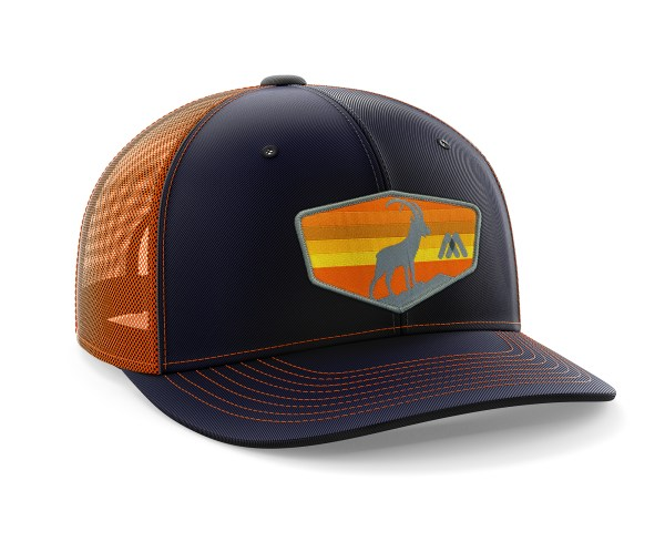 Tizi Sunset Orange-Navy Trucker Hat