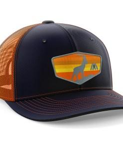 mens trucker hat orange