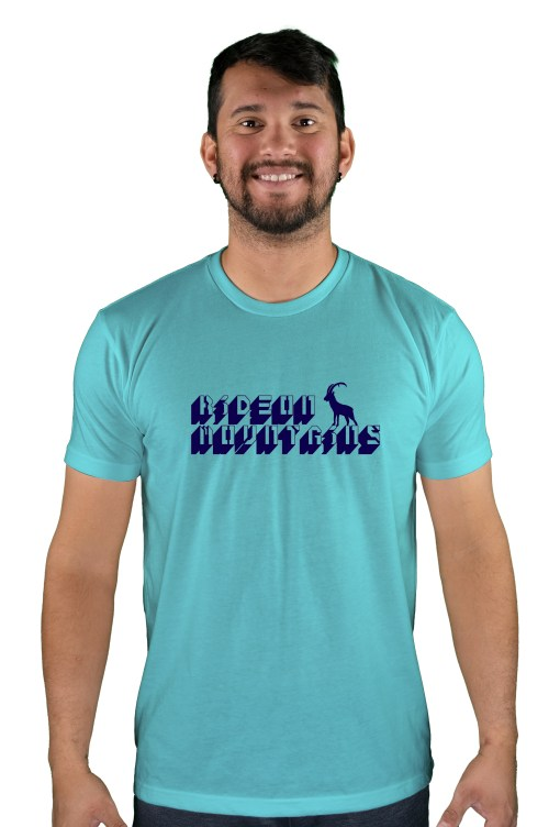 mens mtb digital tahiti blue t-shirt