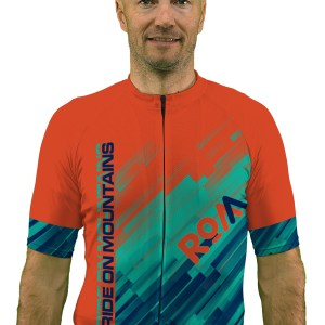 mens cross country mtb teal streaks jersey