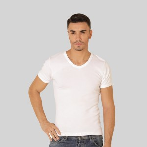 Rider Lifestyle Tshirt Pria R222BP Putih Pcs 1 in 1 V Neck