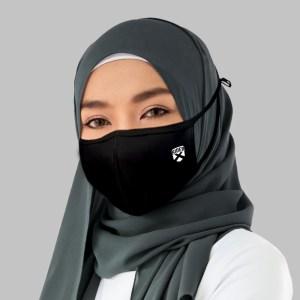 Rider Masker Hijab Kain 3 Lapis Anti Virus isi 2 Pcs