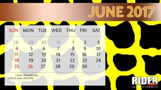 Kalender 2017 - Juni
