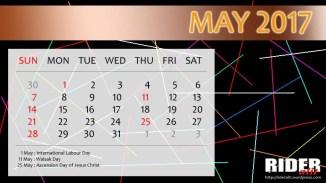 Kalender 2017 - Mei