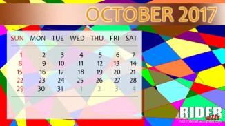 Kalender 2017 - Oktober