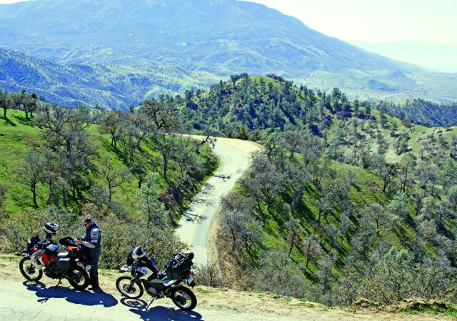 On Caliente-Bodfish Road with California's Central Valley in the distance. Dual-sport heaven!