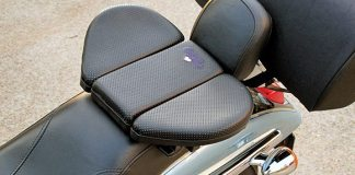 The Butty Buddy is a portable seat, which overlays a motorcycle's small passenger seat or rear fender.