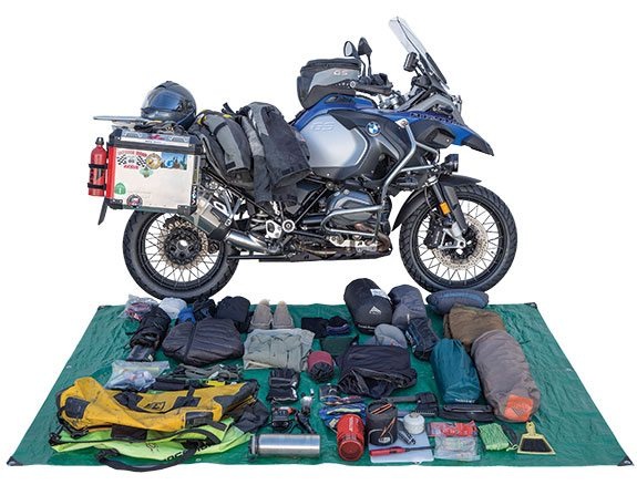 getting started on your first motorcycle camping tour