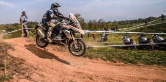 One of the obstacle courses during the GS Trophy in Thailand.
