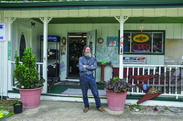 Larry of Arkansas Adventure Rider moved to Eureka Springs from Manhattan, Kansas, to take advantage of the area's great riding.