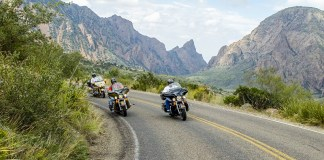 Big bikes enjoying the winding River Road in Big Bend. (Photo: Brewster County Tourism)