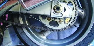 Scottoiler eSystem Chain Oiler on a Ducati ST3.