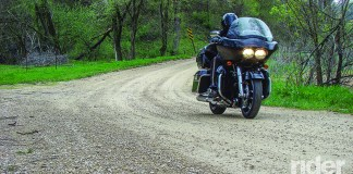 Even a large touring bike can be at home on unpaved roads when proper technique is applied.