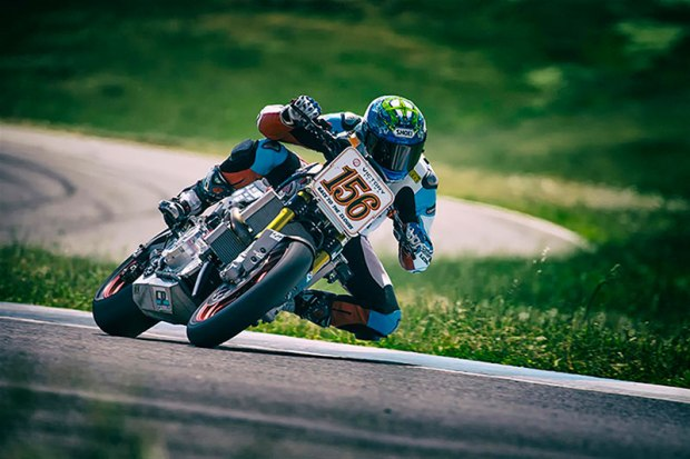 Jeremy Toye on the Victory Racing Project 156 makes his way to the top of Pikes Peak for a win in the PPC-Exhibition Powersports Class, and an overall 3rd place finish. (Photo: Victory Racing)