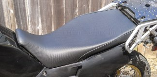 Sargent World Sport Touring Seat on a KLR650.