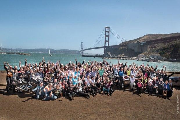 """We made it!"" Photo: Christina Shook"