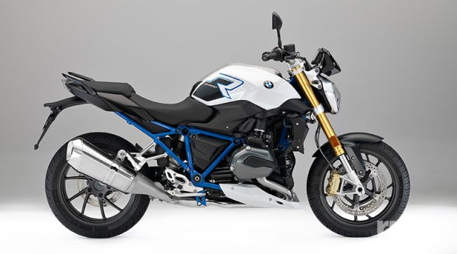 "2017 BMW R 1200 R in ""R 1200 R Sport"" color scheme."