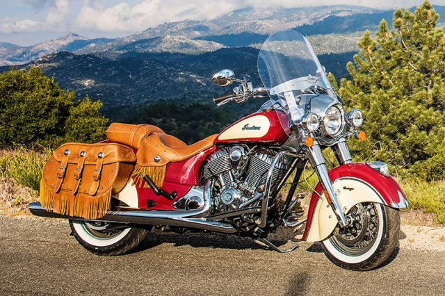 2017 Indian Chief Vintage in Indian Motorcycle Red over Ivory Cream