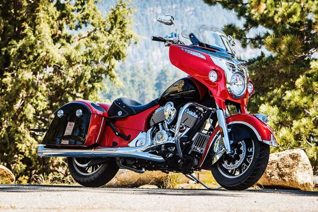 2017 Indian Chieftain in Wildfire Red over Thunder Black