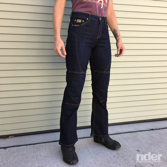 Bilt Iron Workers Iron Women's Jeans. (Boots: Alpinestars S-MX5 Stella)