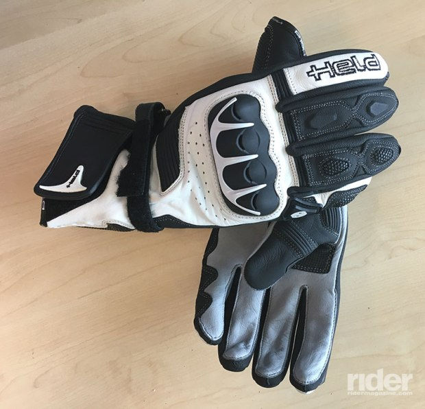 Don't skimp on hand protection! Your gloves should be protective as well as comfortable, allowing you excellent tactile feel while being robust enough to protect you in a fall. I chose the Evo Thrux from Held, with its Kevlar lining, Schoeller reinforcements and soft, supple kangaroo skin palm.