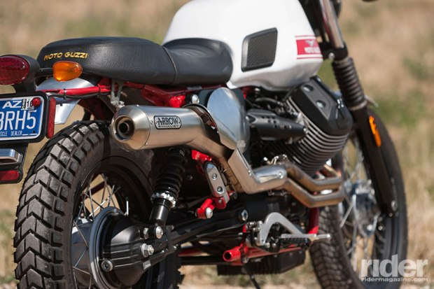 The unmistakeable two-into-one Arrow exhaust delivers great looks as well as a great sound.