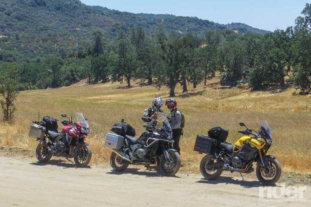 On Rancheria Road, which follows a ridge above the Kern River canyon and includes 35 miles of rutted hard pack, gravel and shallow sand, and has several thousand feet of elevation change, the off-road capabilities of each bike became readily apparent.