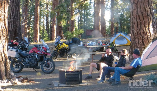 With temperatures topping 100 degrees in the valleys, we found relief at campgrounds above 8,000 feet. The air was cooler but also thinner, making us light-headed when self-inflating our air mattresses!