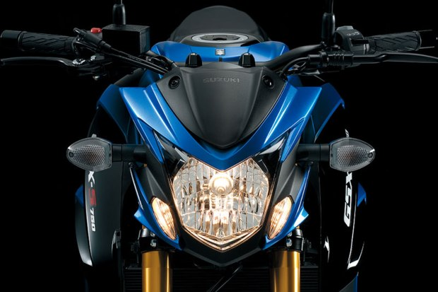 Suzuki's GSX-S750's engine is derived from the 2005 iteration of the legendary GSX-R750 sportbike.